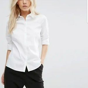 ASOS Classic White Shirt Blouse 6 Slim Fit